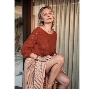 Sezane Avril Knit Jumper Sweater in Cinnamon
